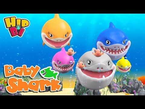 Ba Shark with Funny Hippo Ba  More Nursery Rhymes Songs for Kids  Hip Bi