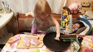 Как запечь куриные бедра в духовке. Как приготовить куриные окорочка.Куриные бёдра. Поварёнок Мими.