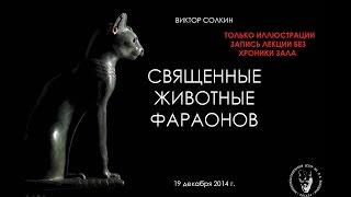 Священные животные фараонов. Лекция Виктора Солкина. Только презентация.