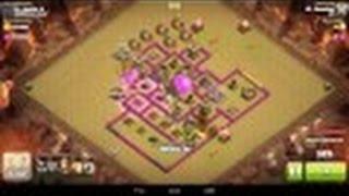 Croniat [Clash of Clans] HdV7 attaque full Dragons+Ballons du CdC