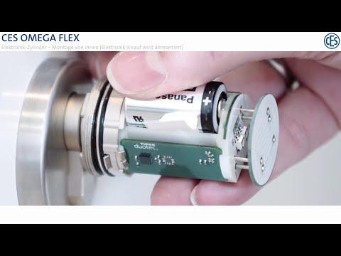 Elektronik-Zylinder OMEGA FLEX - Montage von innen