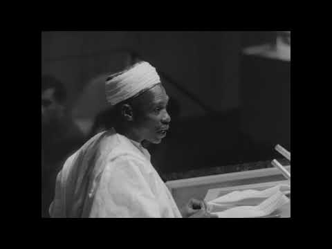 Sir Abubakar Tafawa Balewa at United Nations [1960] Part 1/2