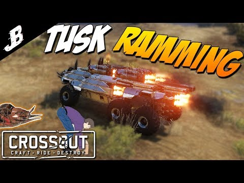 Crossout Tusk Cabin One Hit Melee Build With 10 Hermes Boosters || Crossout Gameplay
