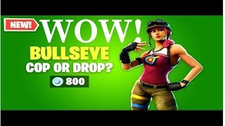 Fortnite Battle Royale (New Bullseye Skin Gameplay)