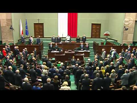 Polish Parliament tribute heroes Warsaw Ghetto (Eng sub) Uprising 70th anniversary
