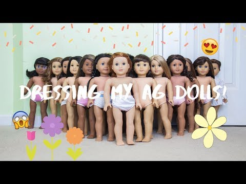 Dressing My AG Dolls!! Spring Edition :)