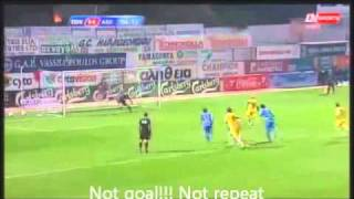 Funny Referee Decision - AEL vs ALL - Goal Penalty no repeat  CYPRUS