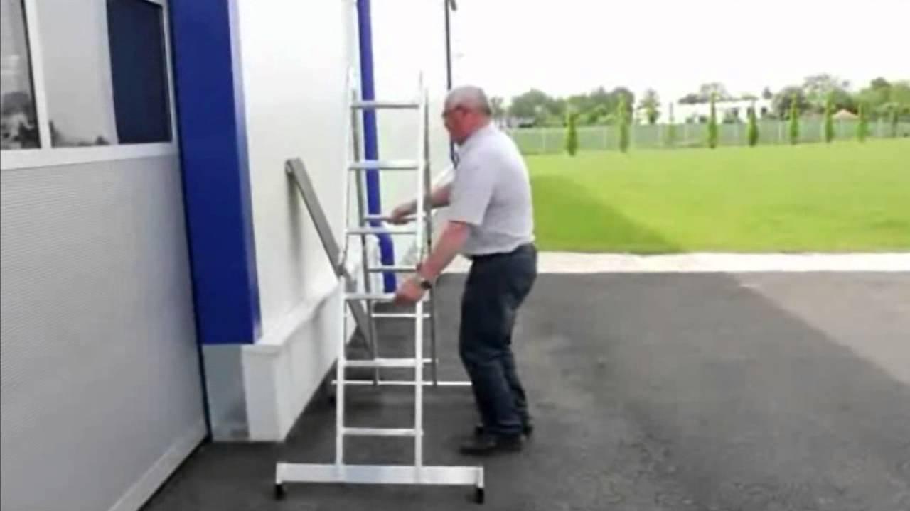 Escalera multiusos de aluminio doovi for Escaleras articuladas de aluminio