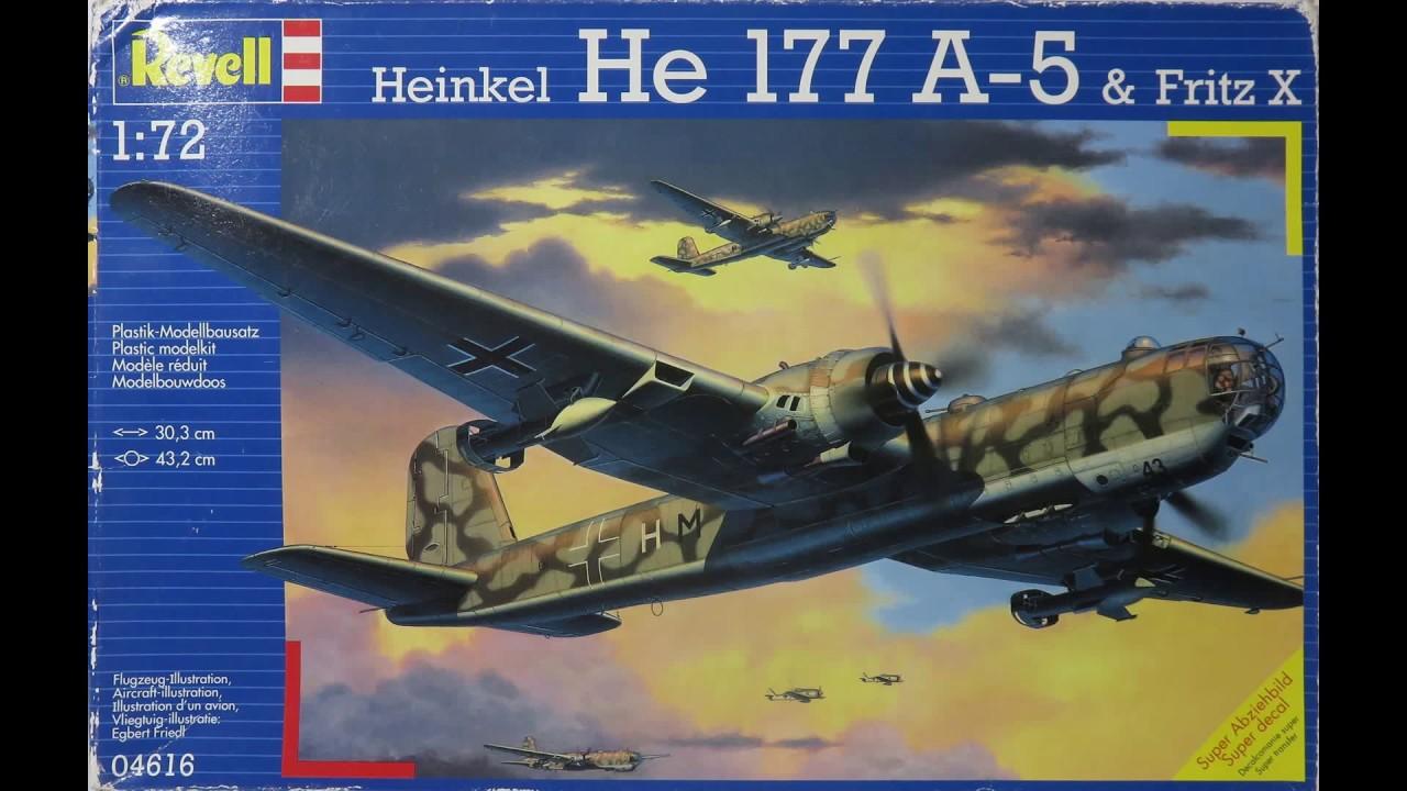 Revell 1:72 03913 Heinkel HE-177 A-5 GREIF Model Aircraft Kit