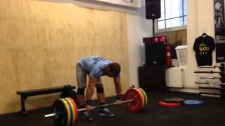 Dmitry Klokov - cluster + push press + jerk with pause - 185 kg