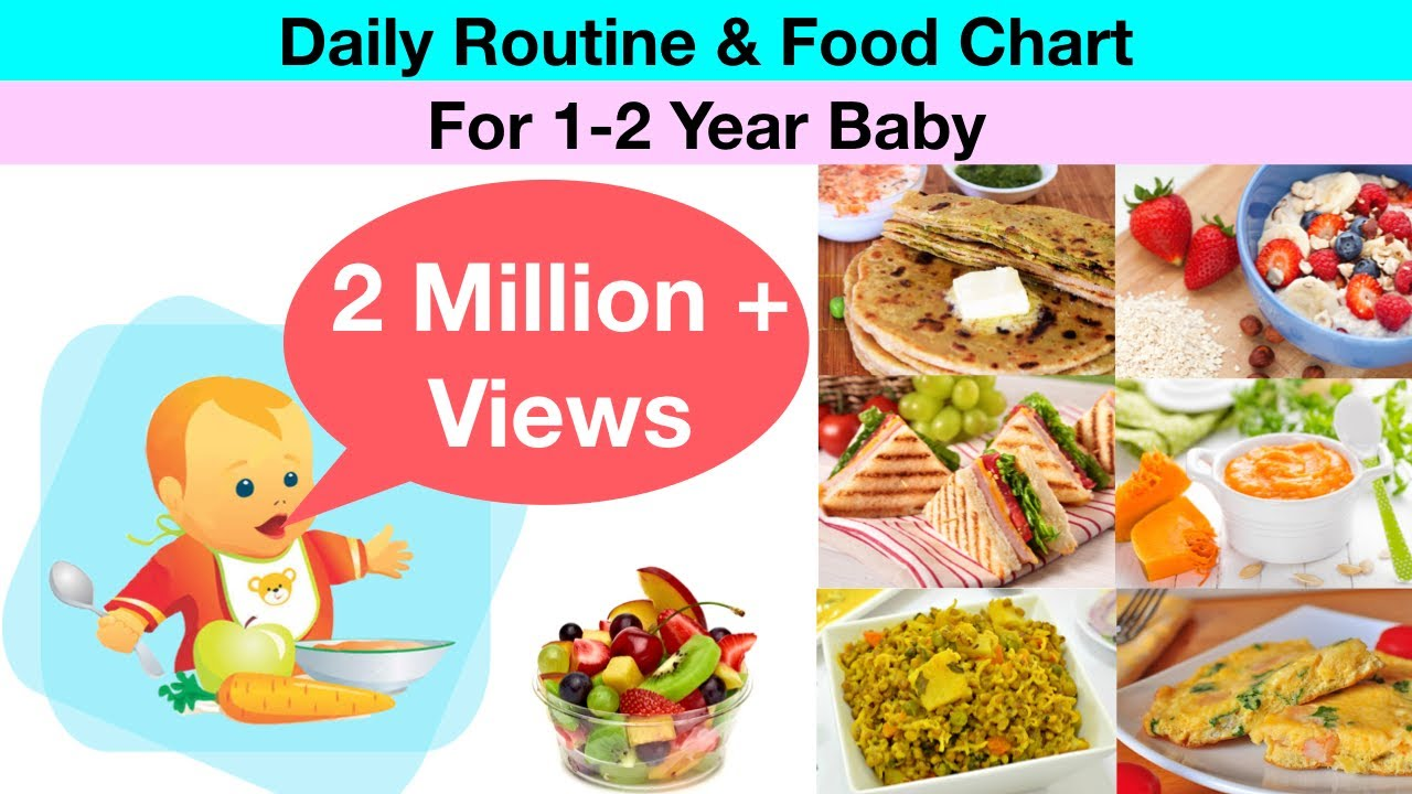 Daily Routine Amp Food Chart For 1 2 Year Old Baby Hindi