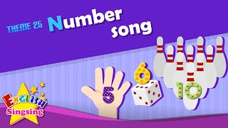 Theme 25. Number song - 123 - One two three | ESL Song & Story - Learning English for Kids