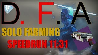 Destiny 2 - SOLO D.F.A Farming Strategy (Hunter) Nightfall Speedrun 11:31  - Tree Of Probabilities