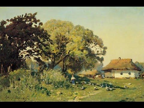 Украинские хаты на картинах. Ukrainian Huts In Paintings
