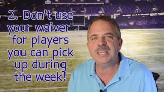 4 Strategies to Win the Waiver Wire War
