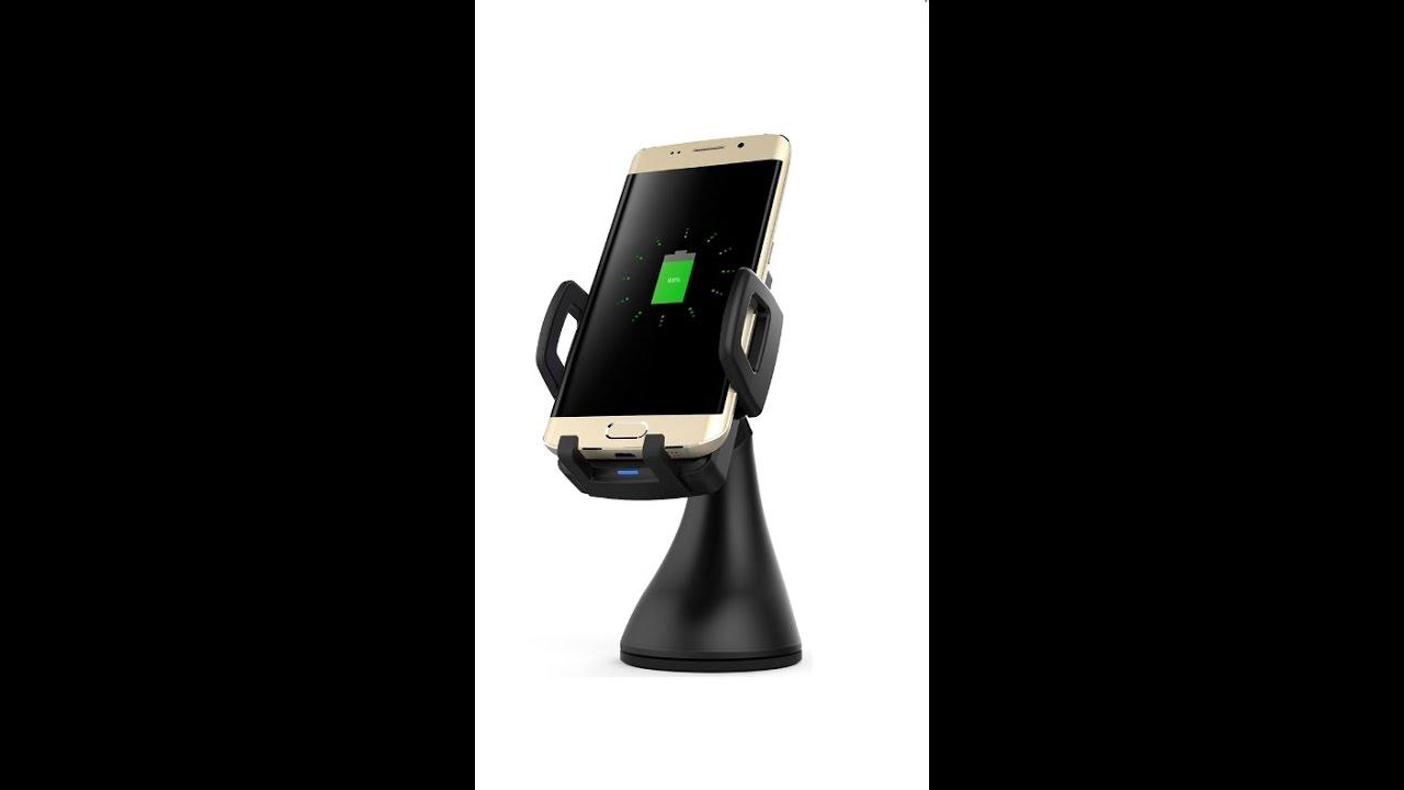 держатель для телефона с быстрой беспроводной зарядкой в машину для