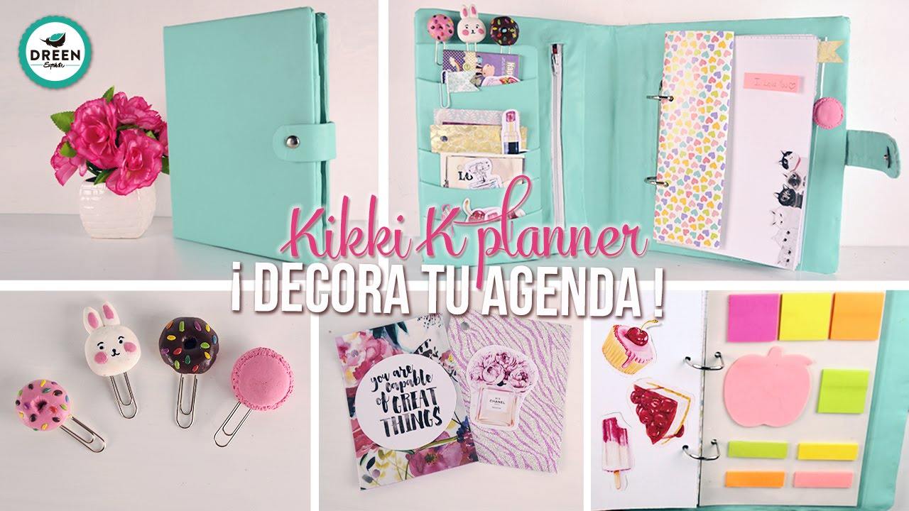 Decora tu agenda ideas y diy f ciles dreen youtube - Como decorar una agenda ...