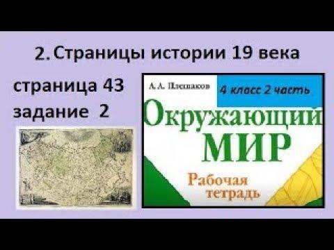 Карта/Страницы истории 19 века №2 (Окр.мир 4 класс)