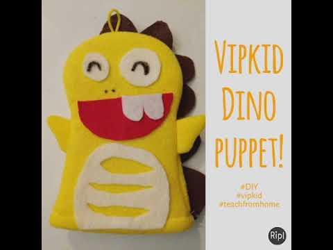 photograph regarding Vipkid Dino Printable named Vipkid Dino puppet!