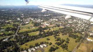 A320 Chicago ORD to Portland, Oregon PDX landing