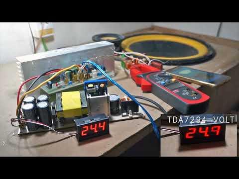 TDA7294 & TDA7293 Power Amplifier test @ 12inch Subwoofer