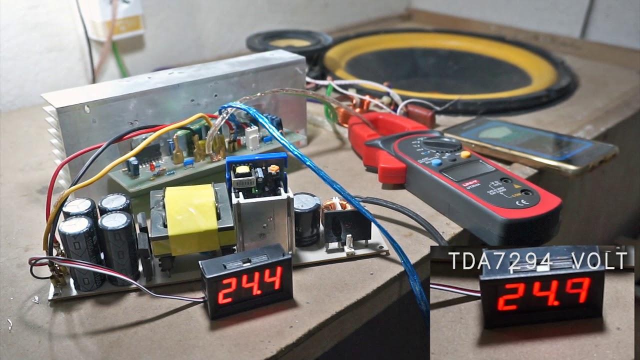 Tda7294 Tda7293 Power Amplifier Test 12inch Subwoofer Youtube 100w Audiio
