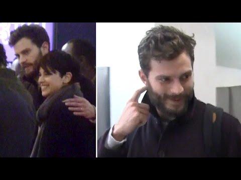 Jamie Dornan Shows PDA With Wife Amelia Warner At LAX