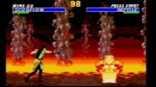 Ultimate Mortal Kombat 3 On SEGA Mega Drive (Genesis) Part 1 (Scorpion Playthrough)