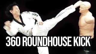 Taekwondo 360 Roundhouse Kick Tutorial | TaekwonWoo