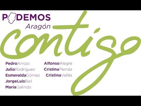 Presentación Candidaturas de Podemos Aragón al Congreso y el Senado.