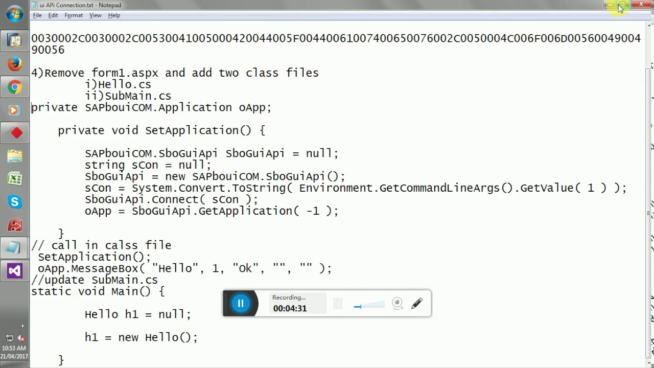 How to Connect SAP Business One using UI API with C#