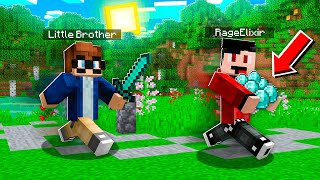 Stealing DIAMONDS From My LITTLE BROTHER in MINECRAFT! (Realms SMP - Episode 12)