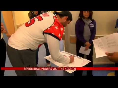 Senior Bowl Players Visit Children at Local Hospital