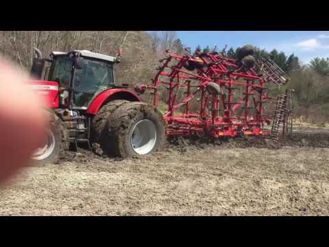 Massey Ferguson 8700 in the mud