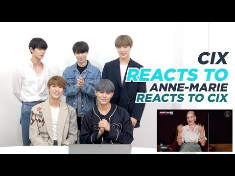 CIX REACTS TO ANNE-MARIE REACTS TO CIX | 6CAST