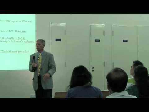 Raising a Successful Child - A talk by Professor Steven Pfeiffer
