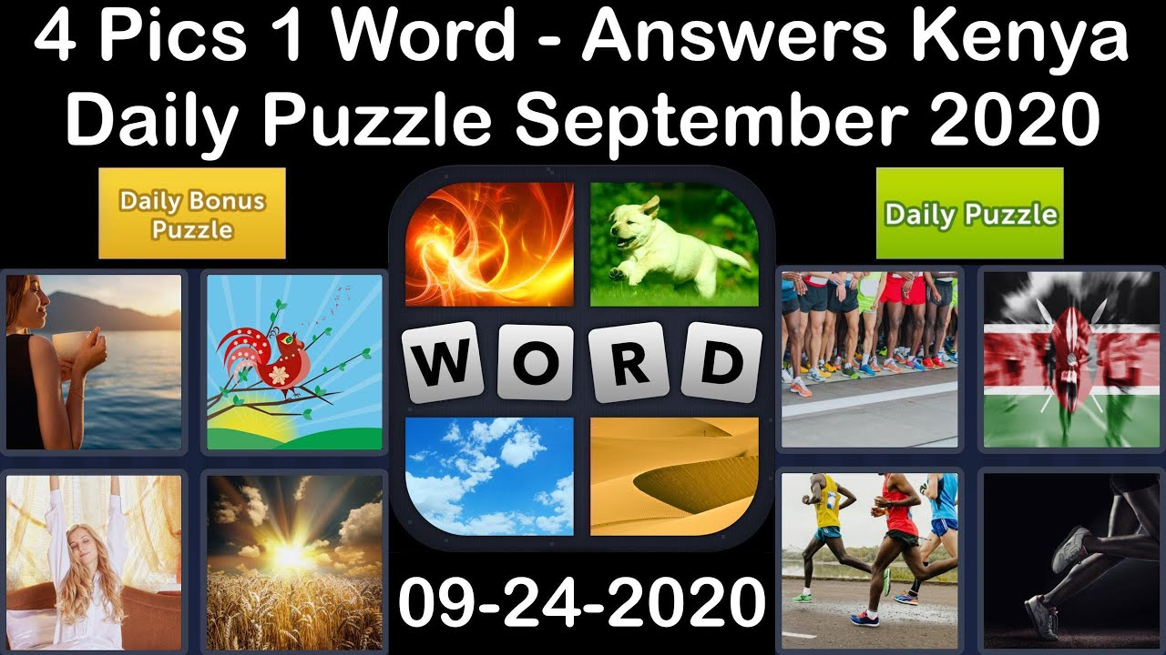 4 Pics 1 Word - Kenya - 24 September 2020 - Daily Puzzle + Daily Bonus Puzzle - Answer - Walkthrough