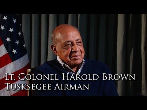 Lt. Colonel Harold Brown, Tuskegee Airmen (Full Interview)