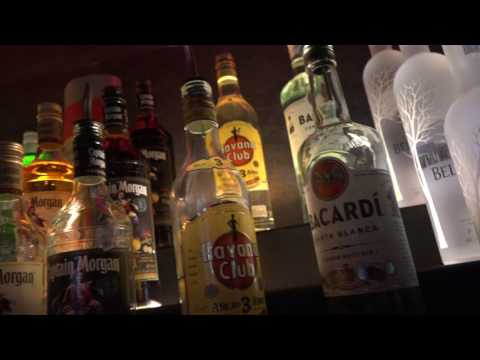 Having fun filming alcohol at the Caraway Lounge in Romford