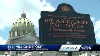 Pennsylvania deposits $317 million into 'Rainy Day Fund'