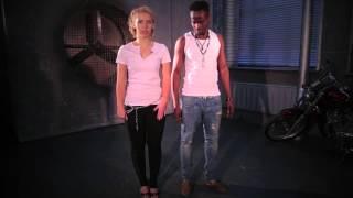 Kizomba (кизомба), обучение, урок 2, Cabral & Vika Sheglova