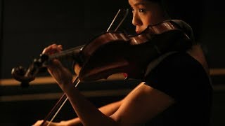 """Associate Concertmaster Lynn Kuo plays the violin as part of the Orchestra for """"A Winter's Tale"""" by the National Ballet of Canada in Toronto."""
