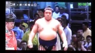 大相撲名古屋場所、貴ノ岩と栃煌山の取り組みです。