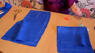 урок -3: Шьем юбку-карандаш - раскрой