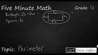 4th Grade Math Perimeter