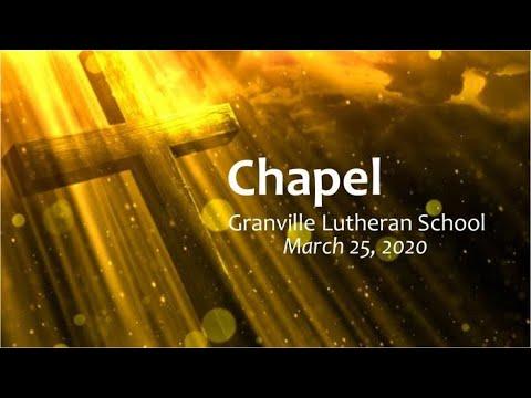 Granville Lutheran School 2020 0325 Chapel