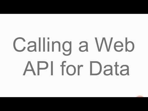 Calling a Web API for data