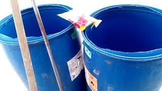 Как  очистить пластиковые бочки