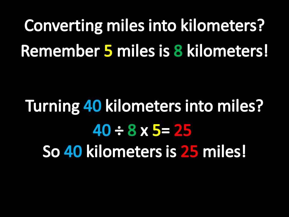 Miles Into Kilometers Youtube