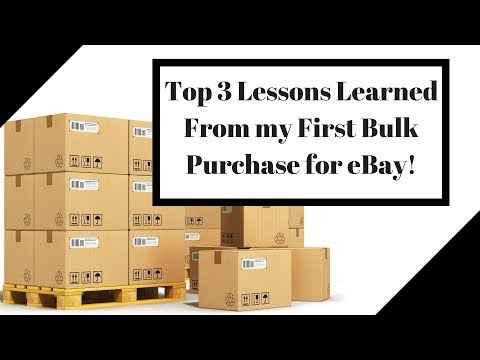 Top 3 Lessons I Learned from my First Bulk Purchase to Resell on eBay!